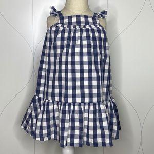 baby Gap plaid dress navy gingham 3T
